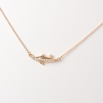 幸福天涯18k金 套链 AU750玫瑰色钻石套链