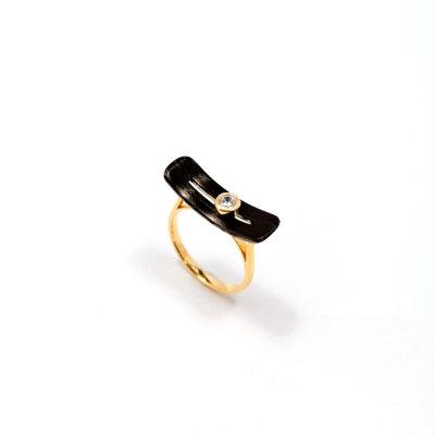 幸福左右s925银合成立方氧化锆戒指