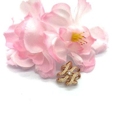 18K金玫瑰色钻石吊坠
