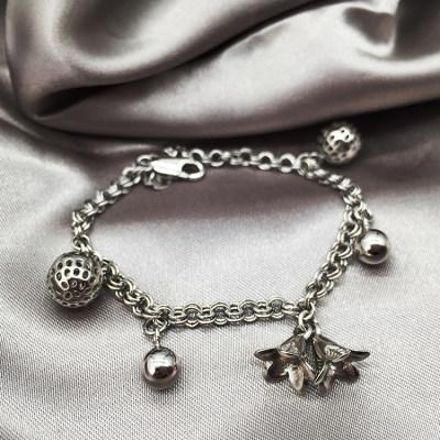 梦幻牡丹 S925银素银手链