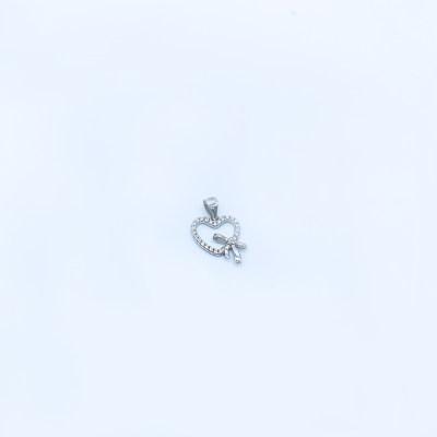 S925银电白立方氧化锆吊坠