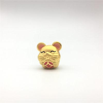 幸福童谣-3D硬金黄金素金滴胶ins风串珠