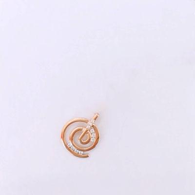 幸福模式 18K金玫瑰色钻石吊坠