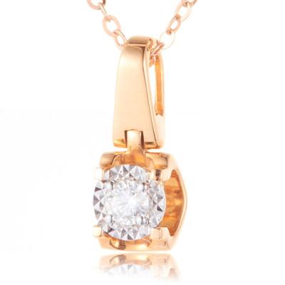 幸福演奏 AU750分色钻石吊坠 (不带链)