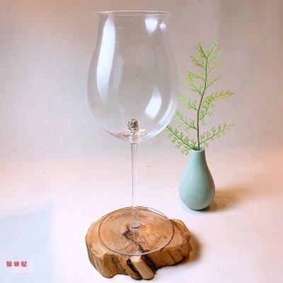 银玻赋 银与水晶玻璃组合红酒杯