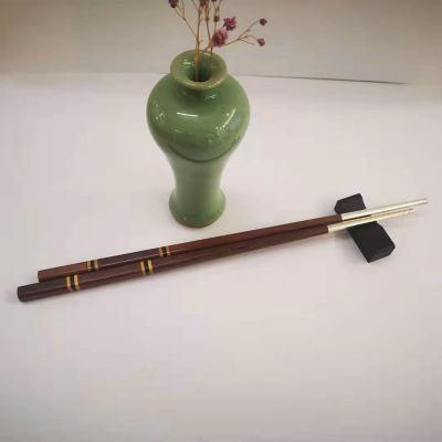 银木赋 足银本色檀木筷子纯银筷子自用送礼佳品