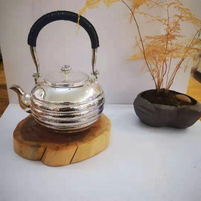 足银本色茶具**-提梁壶