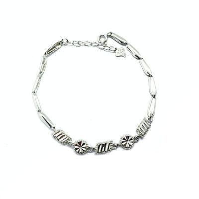 明福S925银电白素银手链