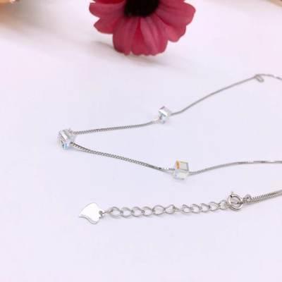 未然S925银玻璃套链