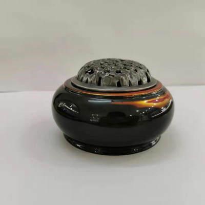 银香道-S925银仿古办公家居-香炉