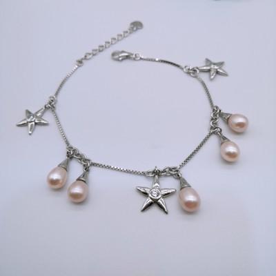 S925银珍珠手链