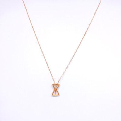 幸福唯美18K金玫瑰色钻石吊坠