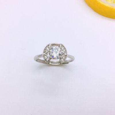石之魅S925银电白合成立方氧化锆戒指
