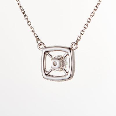 爱情之轮18k金白色钻石套链
