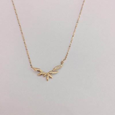 幸福梦想18k金玫瑰色钻石项链
