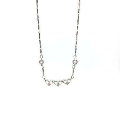 心之赋S925银电白立方氧化套链