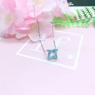S925银托帕石项链