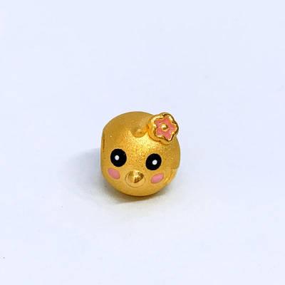 幸福顽味3D硬金素金手串
