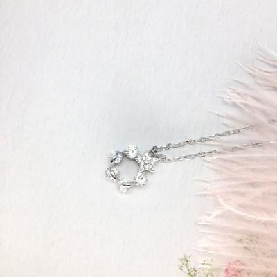小小爱情S925银合成立方氧化锆套链