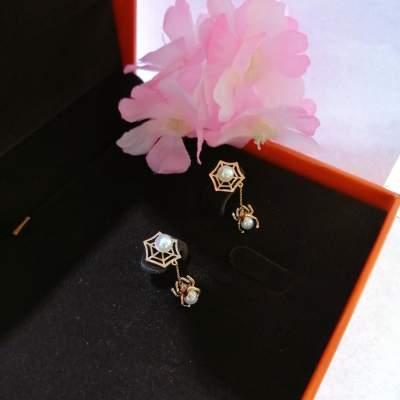 编织幸福18k玫瑰金时尚不撞款超美珍珠耳饰送闺蜜节日礼物