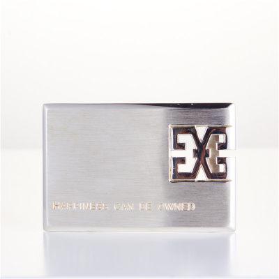 幸福之源-S925银电白素银男士商务皮带扣品位高端大气优雅礼品