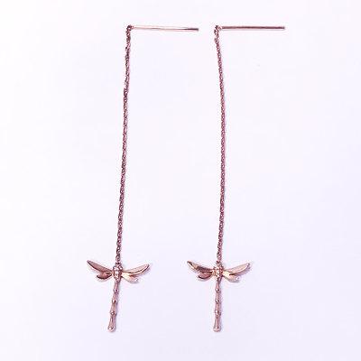 幸福珠宝专柜正品 幸福感悟微幸福幸福之歌AU750金玫瑰色钻石耳线